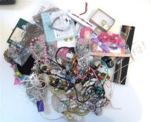 A Collection Of Costume Jewlery Including Necklaces, bracelets and earings