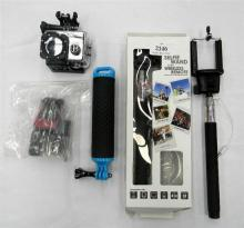 An HD action camera & accessories incl. selfies etc.