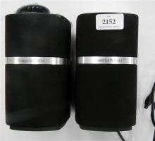 A Bowers & Wilkins MM-1 speaker system with remote, no power supply