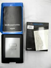 An Amazon Kindle paper white in open box