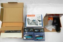 Five assorted car accessories incl. heads up display & BMW phone