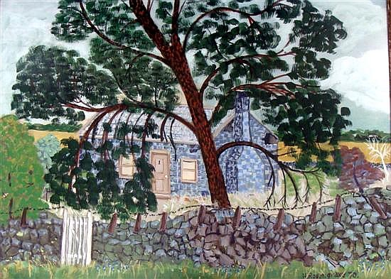 Harry Rosengrave (1899-1986) The Stone Cottage 1970 Gouache on paper