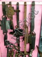 Five assorted large traps by J Roberts and HRS & Co