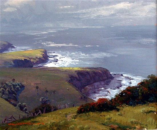 † Warwick Fuller (b.1948) Soft Morning Light, Kiama 1983 Oil on board