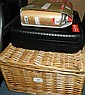 Wicker basket Picnic Set c/w Portable gas stove and spare gas cylinders