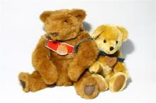 A Dakin Teddy Bear together with a ''Bear With Us'' Mohair Teddy Bear made in New Zealand plus a Collection of Five Plush Toys,