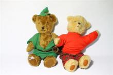 A Robin Hood Bear made in Tasmania by Uleen Corbett & another Vintage Teddy,