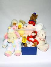 A Box of Assorted Teddy Bears & Plush Toys