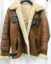 A Sheepskin jacket, airforce style. No size or label