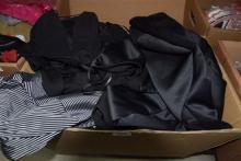 A box of assorted ladies clothing