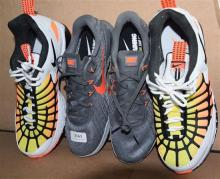 Two pairs mens sports shoes marked Nike both size 42.5