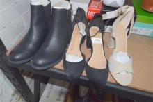Three pairs assorted ladies heels & boots all size 7