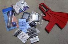 A quantity of health products incl. fat measures, blood sugar measures & black head removal device