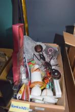 A box of assorted homewares incl. ant decoration etc.