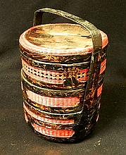 A 19th/20th Century Lacquered Bamboo Wedding Basket