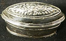 Two Cambodian silver snuff boxes