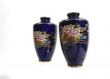 A pair of miniature Japanese Kutani vases