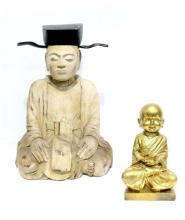 A Large Korean Seated Monk, 20th Century