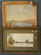Roy Parkinson (1900-1945) Brisbane Waters towards Broken Bay 1926 + Robert Riches (act.1900s), On the Shoalhaven 1903 (2)