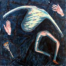 Artist Unknown  Untitled, Puppet Oil on canvas