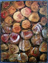 Artist Unknown  Roses Oil on canvas on board