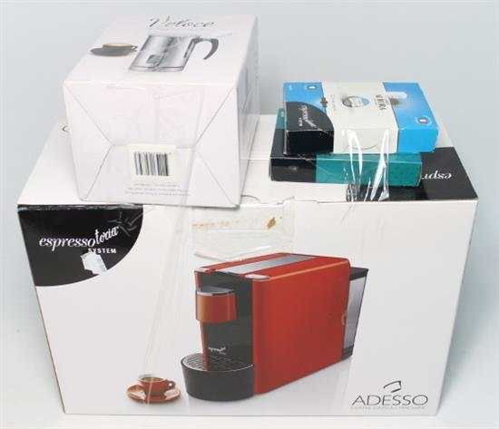 An Adesso Coffee Capsule Machine together with a Milk Frothe