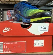 new concept 7162f 91ad4 A pair of sports shoes marked Nike size Euro 41 in a box, possibly worn