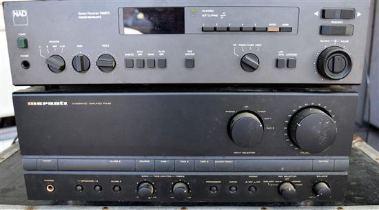 A NAD 7240PE Stereo Receiver & Marantz PM-80 Intergarted amp