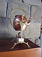 A Good Art Nouveau Style Copper and Brass kettle on stand