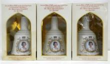 Three Bell's Scotch Whiskies Commemorating the 60th Birthday of Her Majesty Queen Elizabeth II 750ml