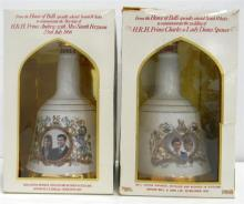 Two Collectors Bells's Specially Selected Scotch Whisky Decanters 750ml