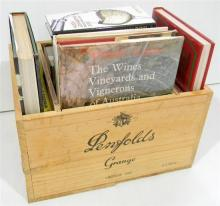 A Penfolds Grange Vintage 1992 Box with Wine Related Books
