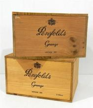 Two Penfolds Grange Vintage 1990 Boxes for Six Bottles [empty]