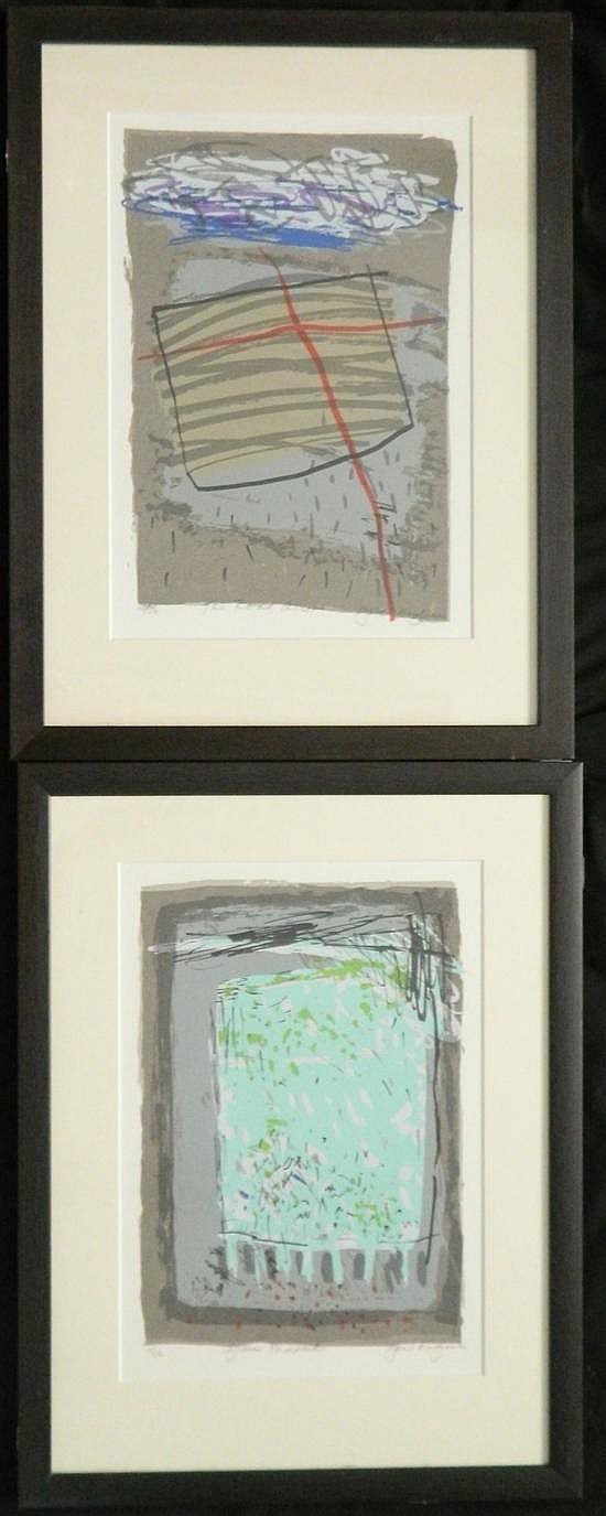 Gail English (act.1980s) The Road Across + Green Paddock (2) Each silkscreen ed. 16/50,17/50