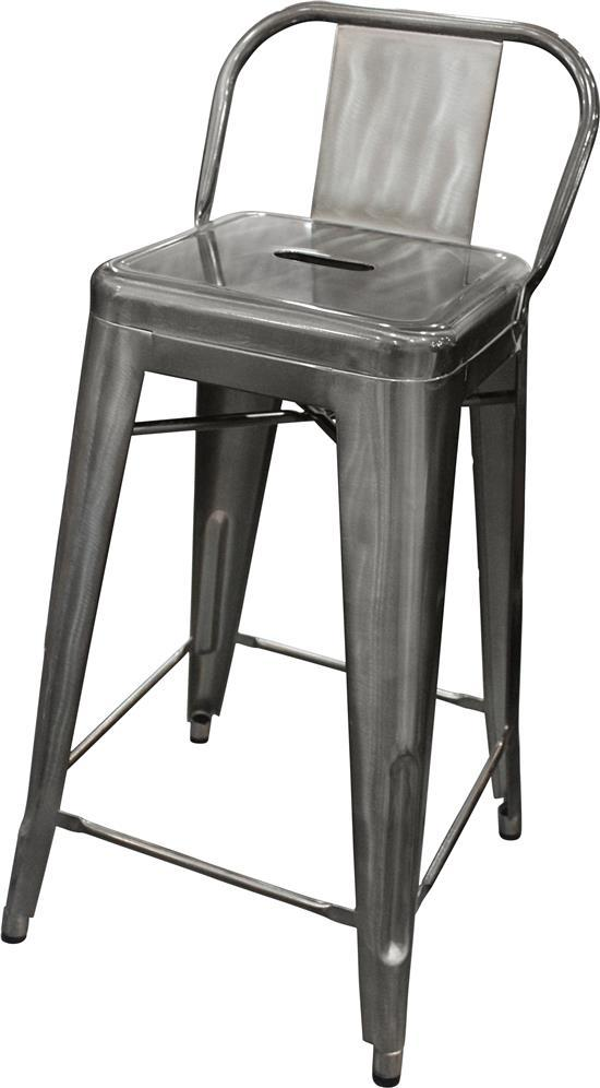 A tolix replica low back bar stool in gunmetal grey - Tolix low back bar stool ...