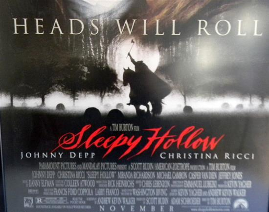 Movie Posters 1999: A 1999 Sleepy Hollow Framed Full Sheet Original Movie Poster