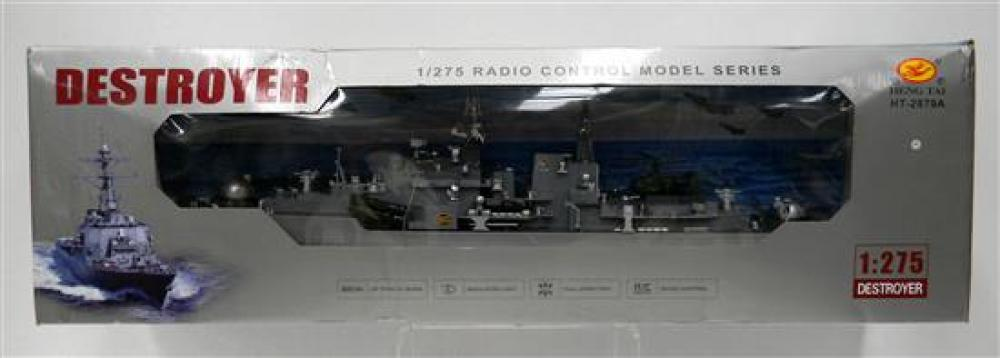 A Heng Tai HT-2879A 1/275 Radio Control Destroyer [RRP $215] in Slightly Damaged Box