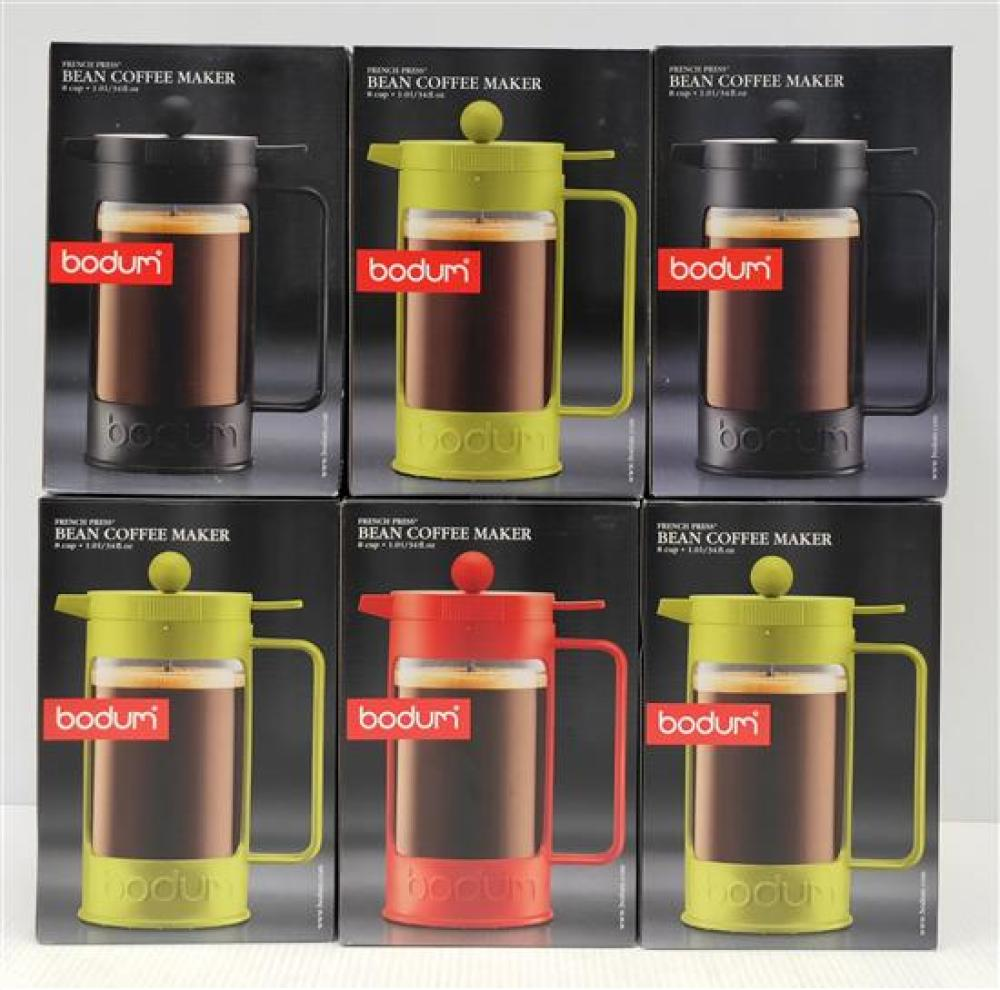 Six Bodum Bean Coffee Maker (8 Cup) in Assorted Colours