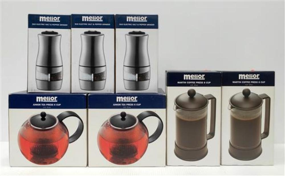 Two Melior Tea Press, Two Coffee Press & Three Duo S&P Grinders [7]