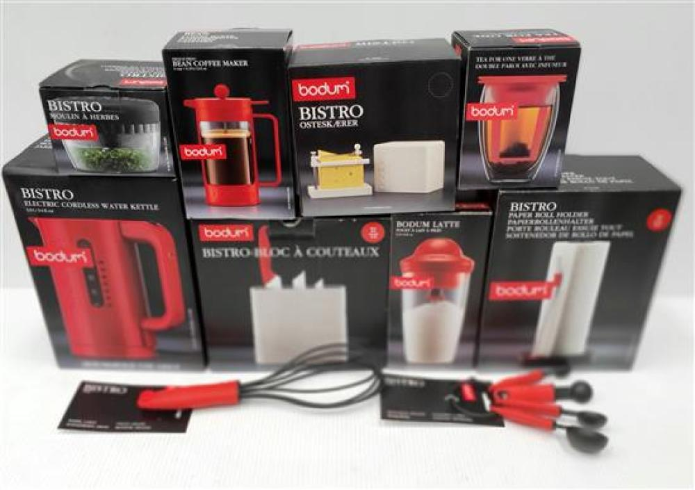A Selection of Bodum Items, All in Red,
