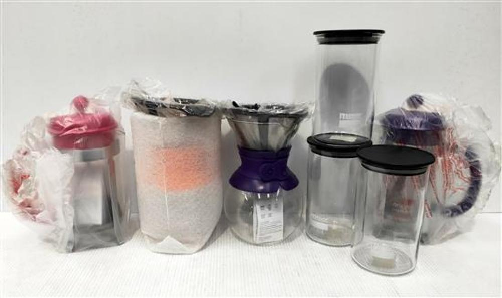Two Bodum Pour Over Coffee Makers, Two Bodum French Press & Three Melior Storage Containers [7]