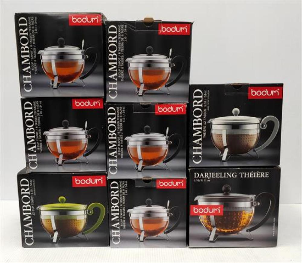 A Selection of Bodum Tea Pots in Various Styles & Sizes [8]