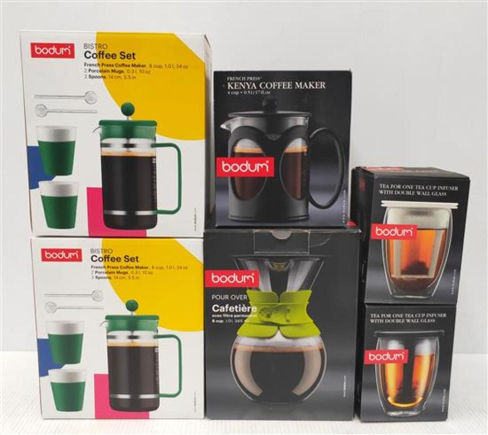 The Bodum Tea & Coffee Lovers Set, Various Coffee Makers & Tea Pots in Various Styles & Sizes