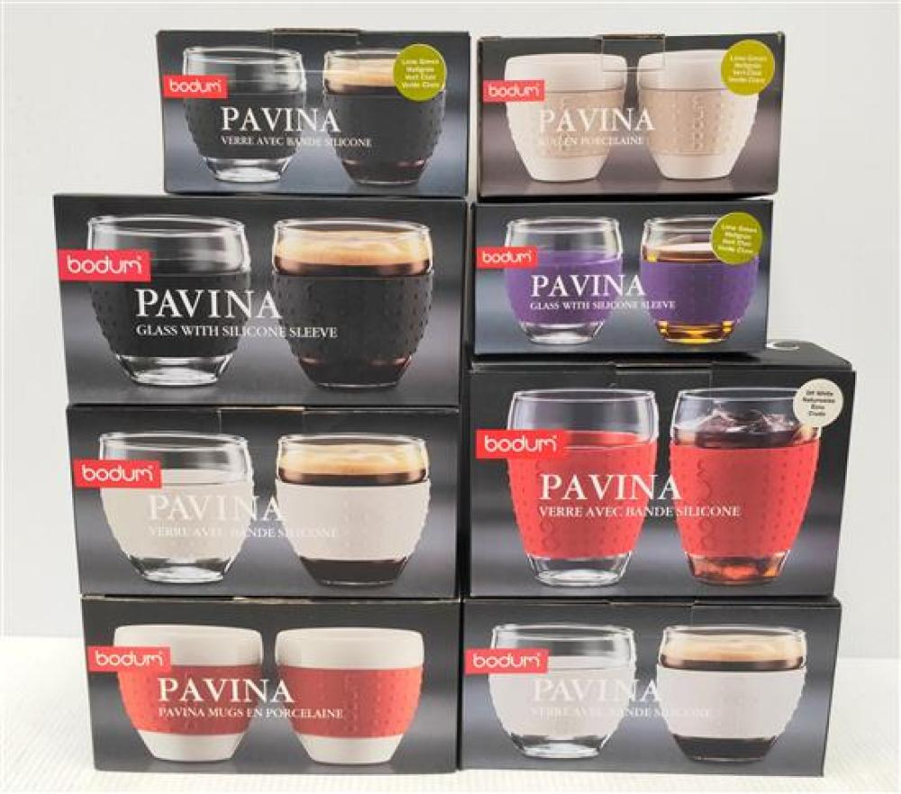 A Selection of Bodum Pavina Glass Sets in Various Styles & Sizes