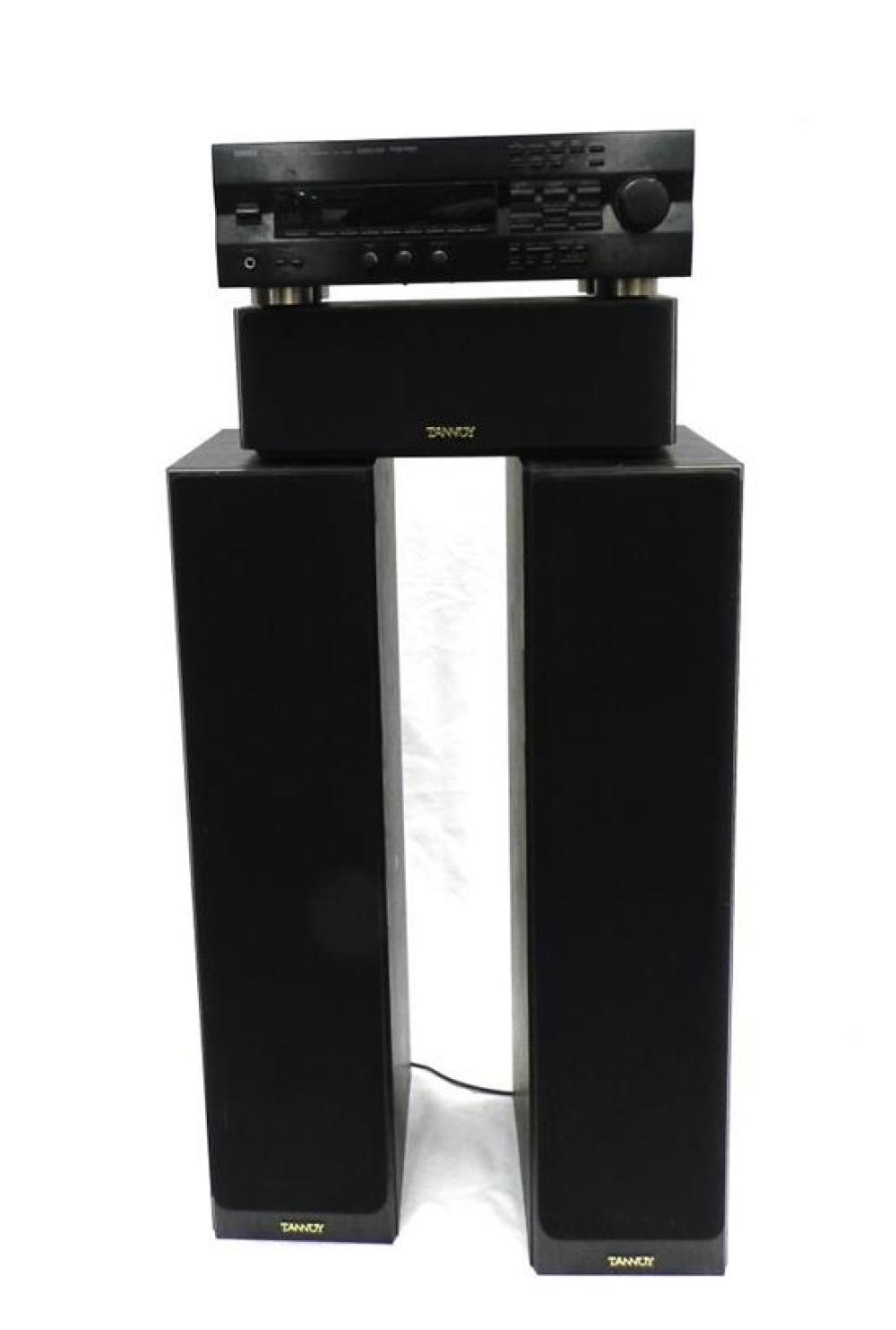 A Tannoy Speaker System with a Yamaha Amplifier