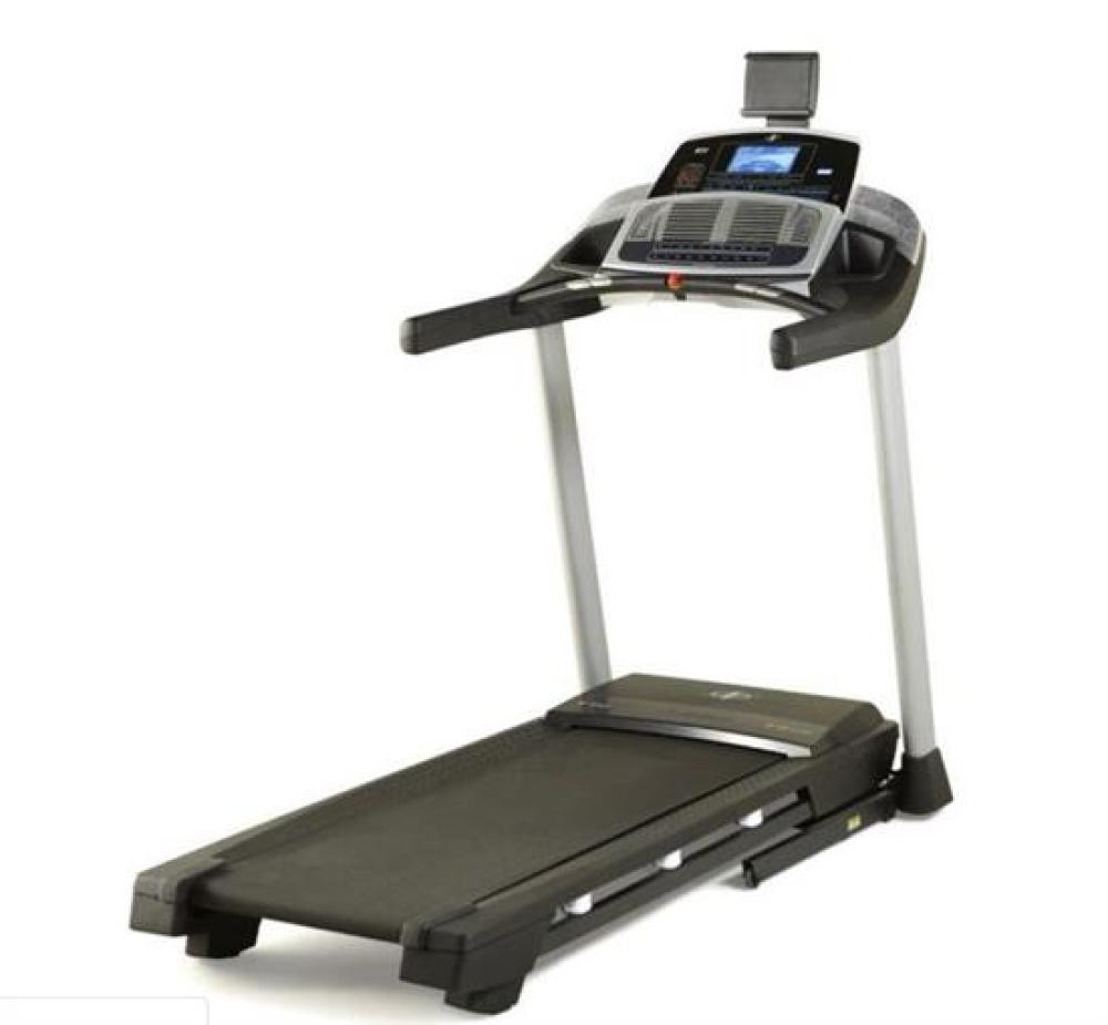A Nordictrack T7.0 Treadmill (RRP $2,299), Covered in Fine White Paint Overspray, Otherwise Excellent Working Order