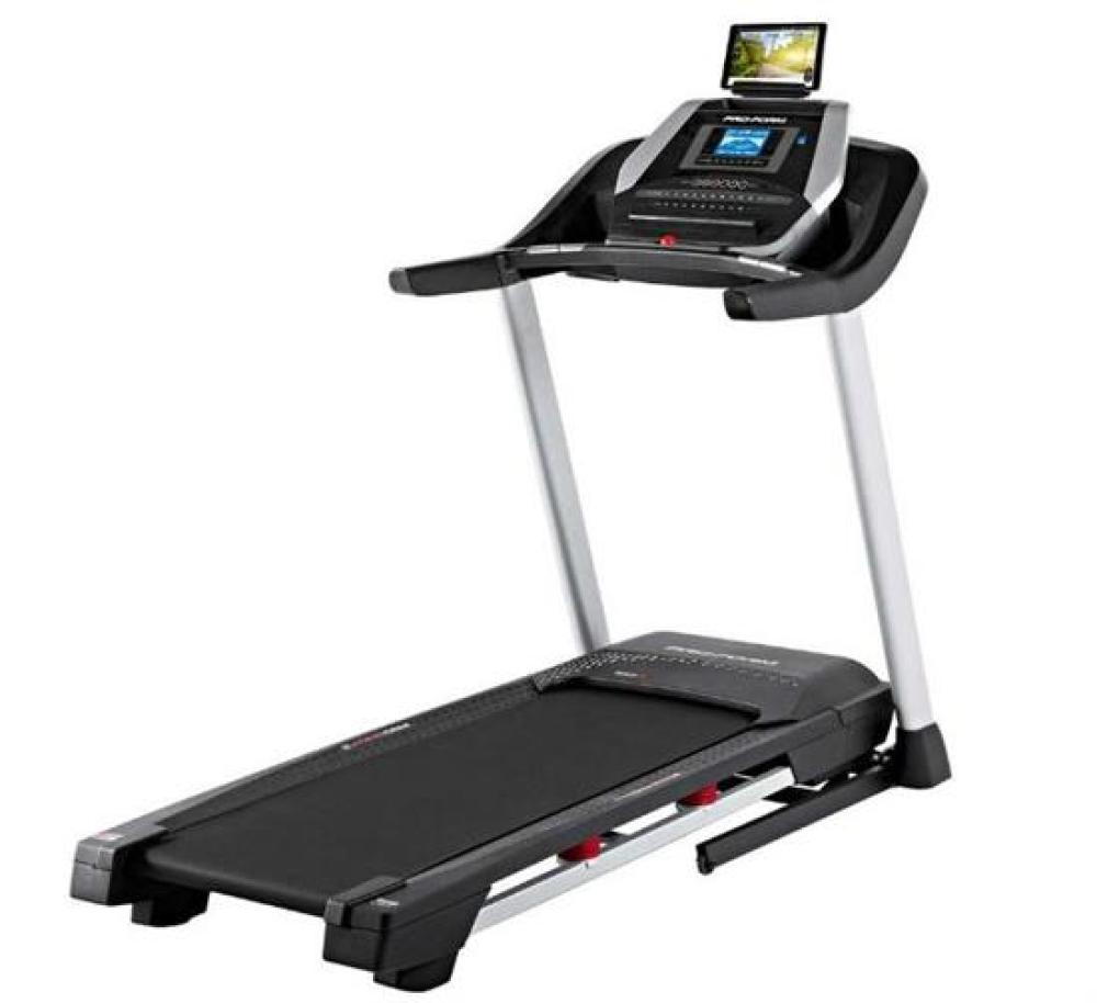 A Proform 505 CST Treadmill (RRP $1,999), Covered in Fine White Paint Overspray, Otherwise Excellent Working Order