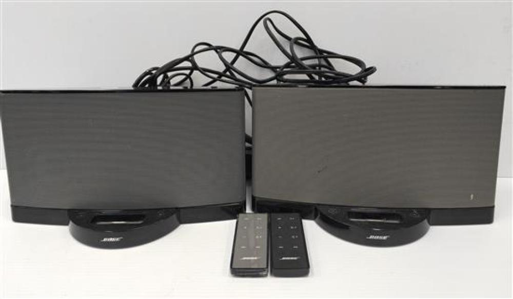 Two Bose iPod Docks with remote controls