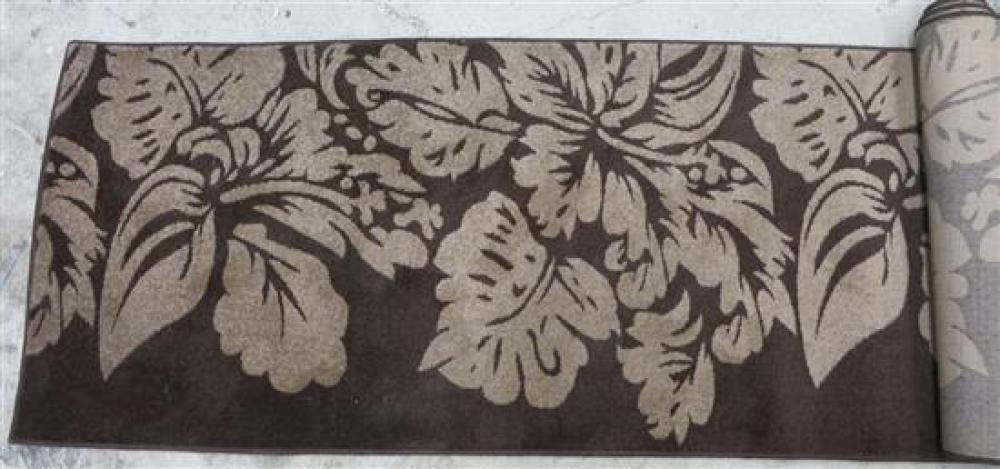 A Swift Collection Modern Brown & Tan Floral Hall Rug (RR $599)