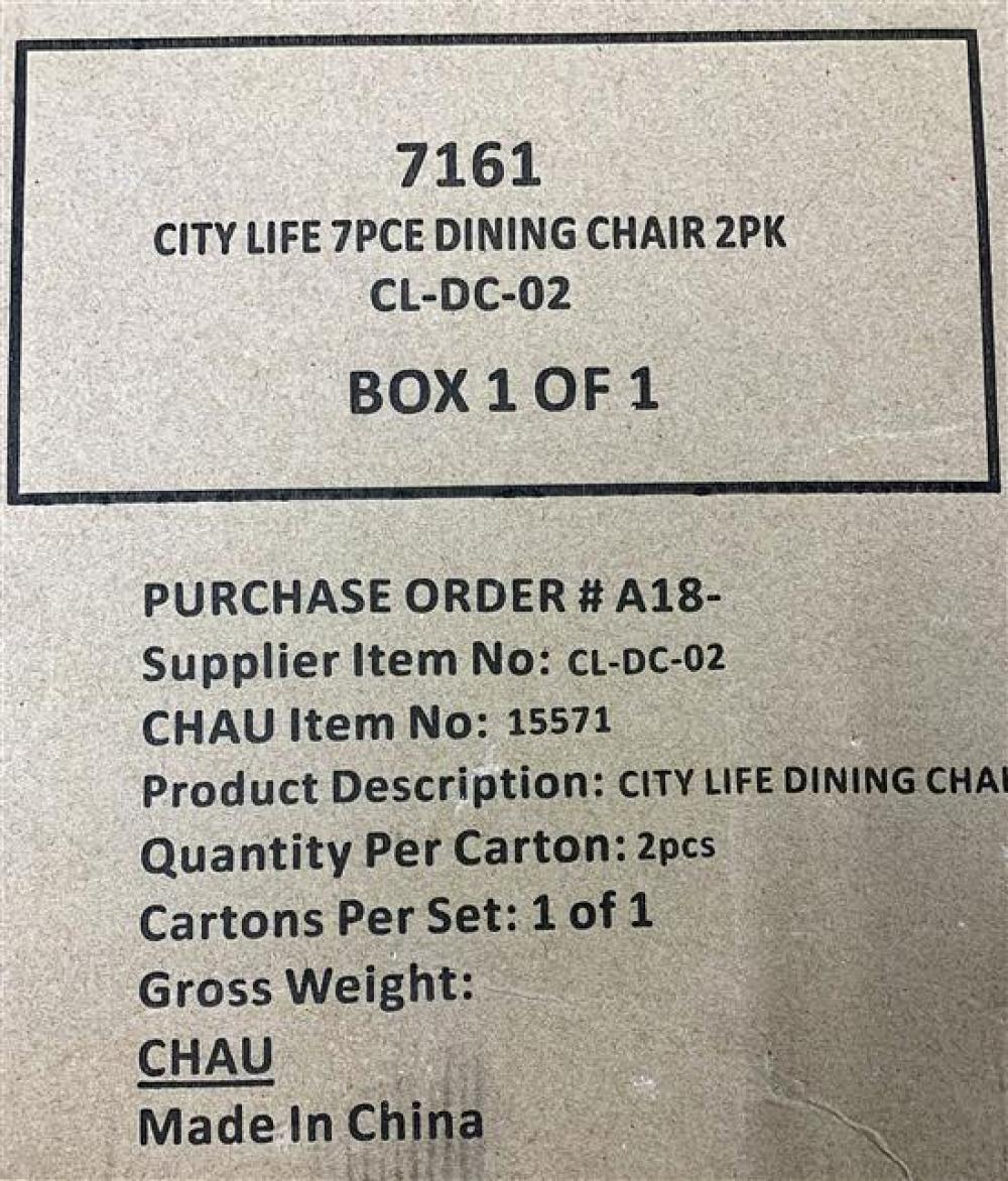 Two City Life Dining Chairs in Origianl Carton